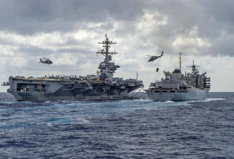 Des navires de guerre américains dans la Mer Rouge. Photo d'archives AFP