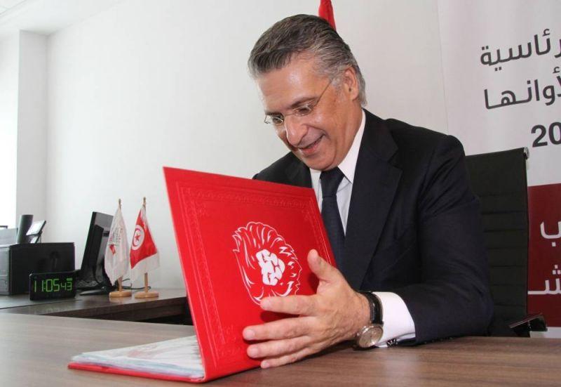 Nabil Karoui, candidat à la présidentielle en Tunisie. AFP / Hasna
