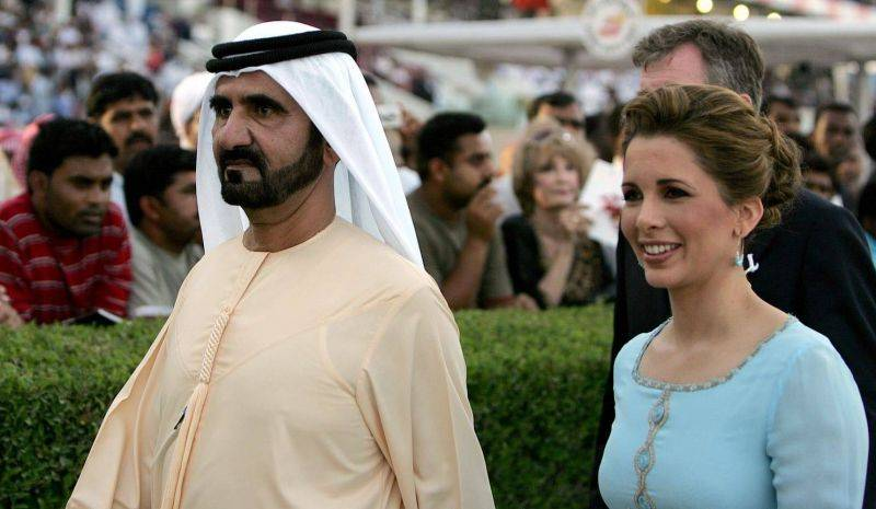 Princess Haya and Sheikh Mohammed bin Rashid al-Maktoum, the ruler of Dubai, during the Dubai World Cup, in 2008. Karim Sahib/AFP/Getty