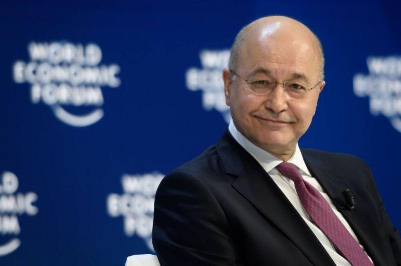 Le président irakien Barham Saleh. AFP / Fabrice COFFRINI