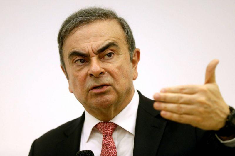 L'ex-magnat de l'automobile Carlos Ghosn, le 8 janvier 2020, lors d'une conférence de presse à Beyrouth. Photo d'archives REUTERS/Mohamed Azakir