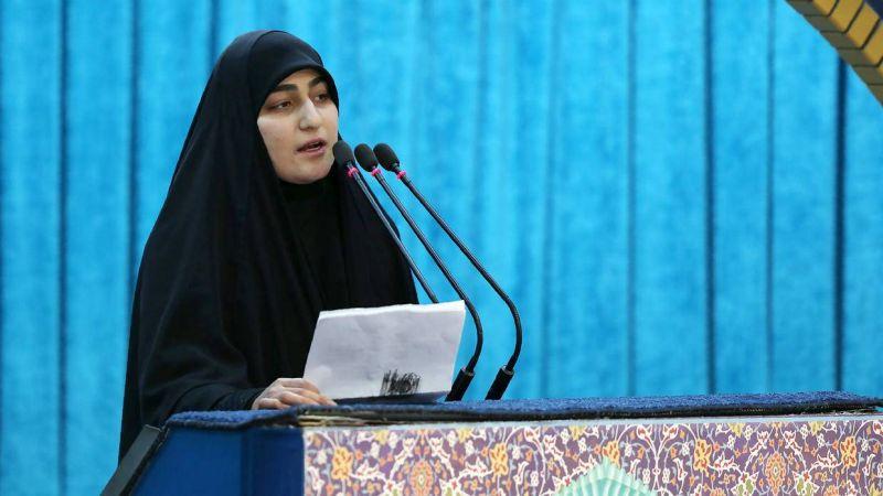 La fille du général iranien Kassem Soleimani, Zeinab. Photo d'archives Site internet du guide suprême iranien/AFP