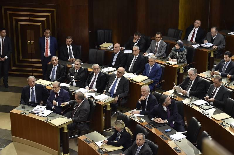 Les députés réunis au Parlement, le 27 janvier 2020. Photo Hassan Ibrahim.